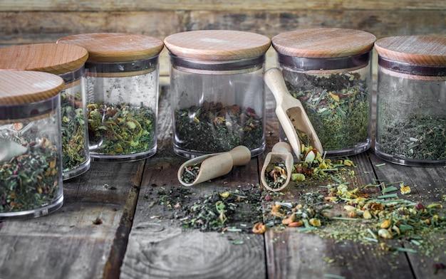 Stilleven van losse thee