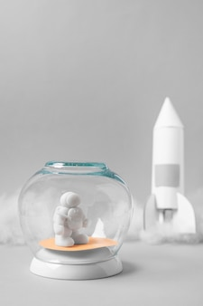 Stillevenruimte-assortiment met astronaut