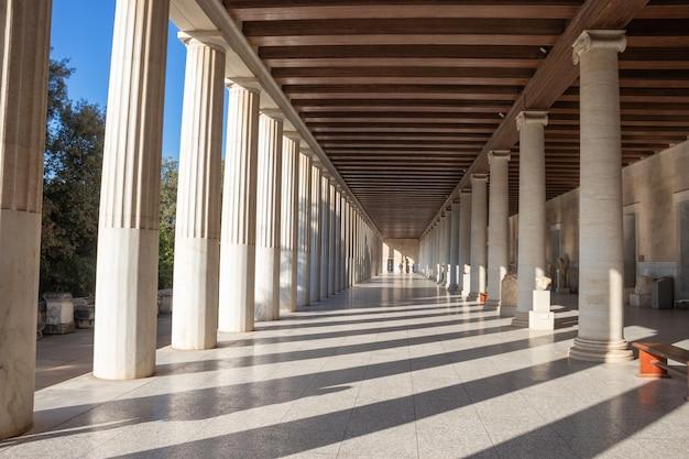 Stoa van attalos in athene, griekenland