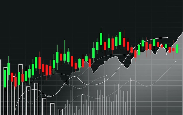 Stock market of forex trading grafiek in grafisch concept
