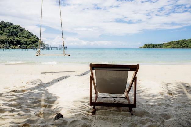 Stoel om te ontspannen op het strand.