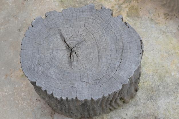Stoel tuinmeubelen gemaakt van houten boomstronk