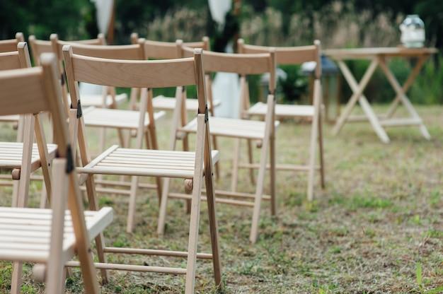 Stoel voor bruiloft of een ander verzorgd evenement.