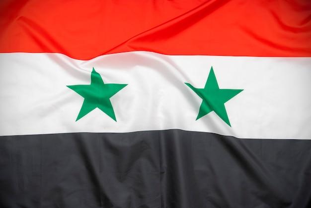Stof nationale vlag van syrië