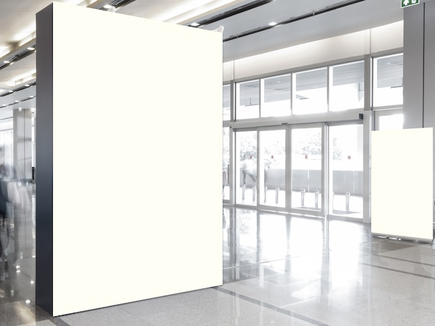 Stof pop-up basiseenheid reclame-bannermediadisplayachtergrond, lege achtergrond