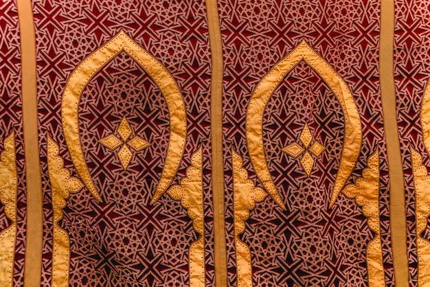 Stofdetail met arabische motieven, voor achtergrondgebruik.