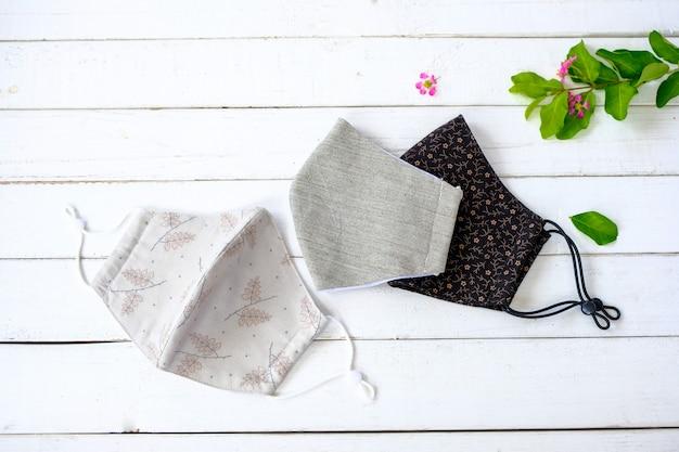 Stoffen masker ter bescherming tegen stof, vervuiling en communicab
