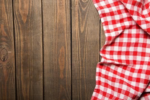 Stoffen servet op houten ondergrond