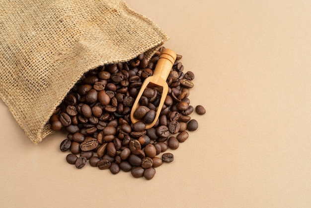 Stoffen tas met koffiebonen