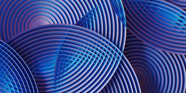 Stoffentextuur van blauwe en roze cirkelvormige geometrie