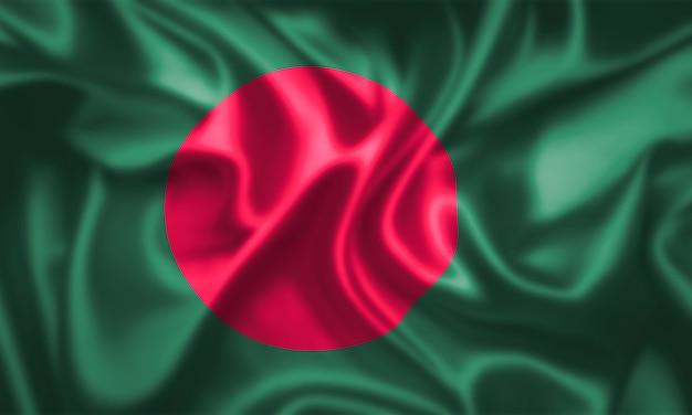 Stoffentextuur van de vlag van bangladesh.