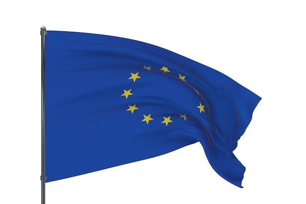 Stoffentextuur van de vlag van de europese unie