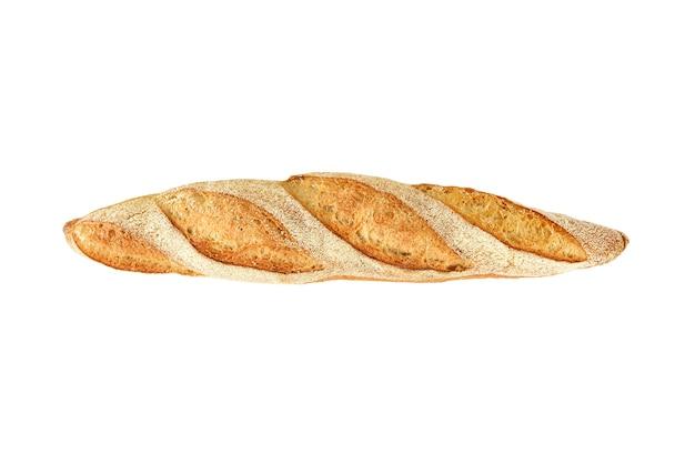 Stokbrood op een witte achtergrond. bovenaanzicht.