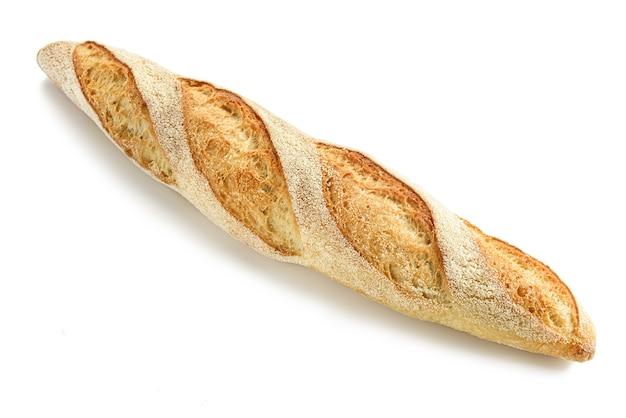 Stokbrood op een witte achtergrond.