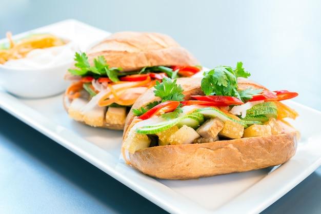 Stokbrood sandwich