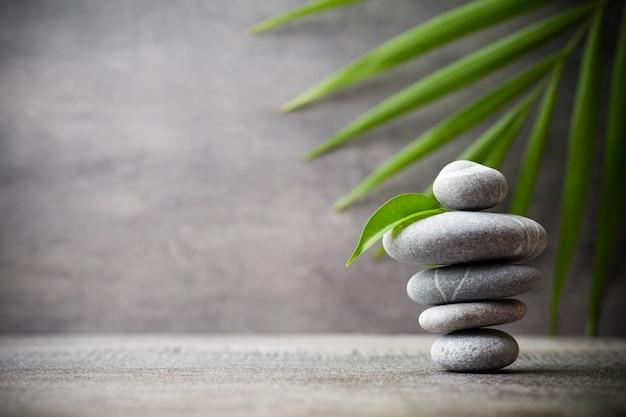 Stones spa-behandelingsscène, zen als concepten.