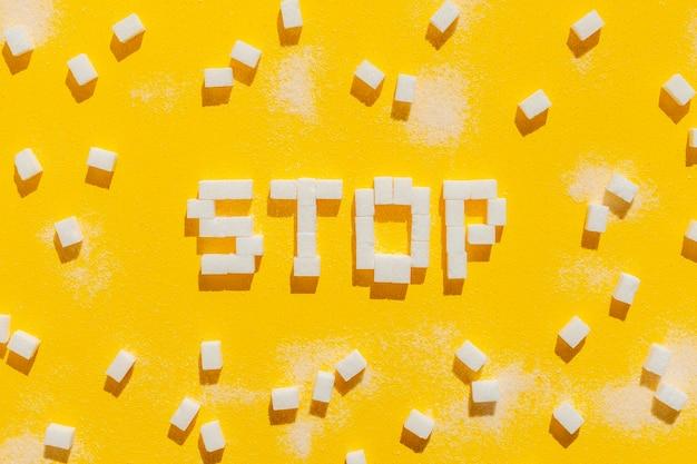 Stop met het eten van een ongezonde boodschap