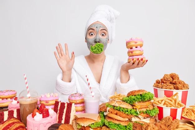 Stop met het eten van junkfood