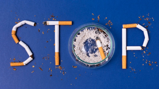 Stop met roken concept