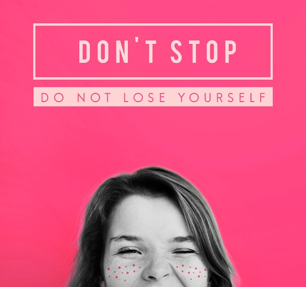 Stop niet met doelinspiratie girl freckles