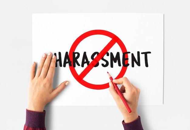 Stop pictogram sociale negatieve woorden