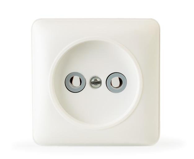 Stopcontact close-up geïsoleerd