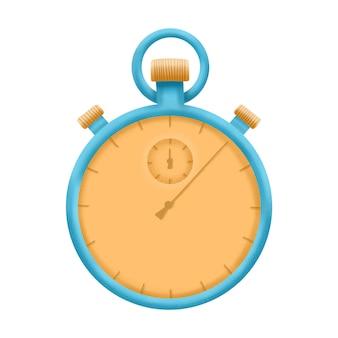 Stopwatch illustratie, sport timer-apparatuur. geïsoleerd op een witte achtergrond.