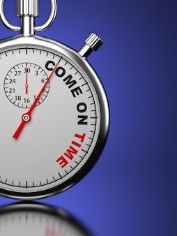 Stopwatch met de slogan