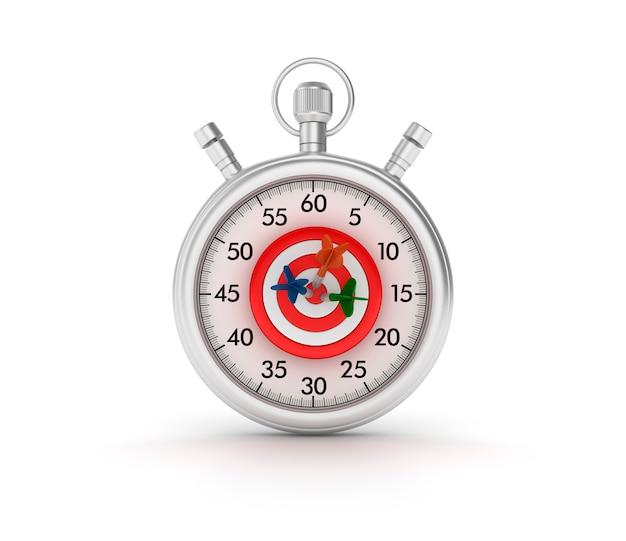 Stopwatch met doel en darts