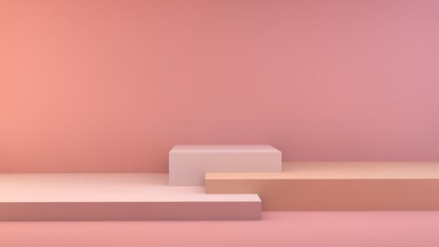 Storefront-display oranje en roze