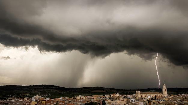 Storm over villafranca, barcelona