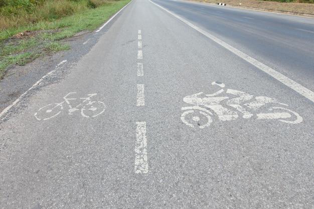 Straat fiets motorfiets