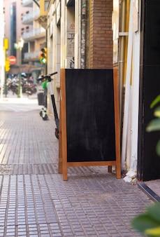 Straat schoolbord