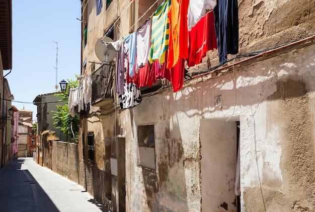 Straat van de oude stad. huesca