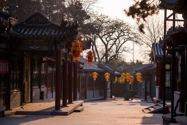 Straat van een oude chinese stad
