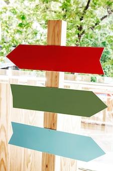Straatnaambord richtingen in het park