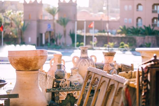 Straatscène in marrakech