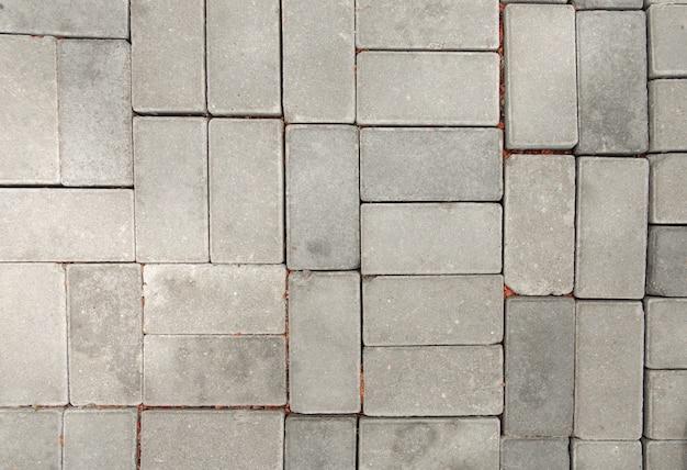 Straatstenen textuur stedelijke weg grijze betonnen stenen