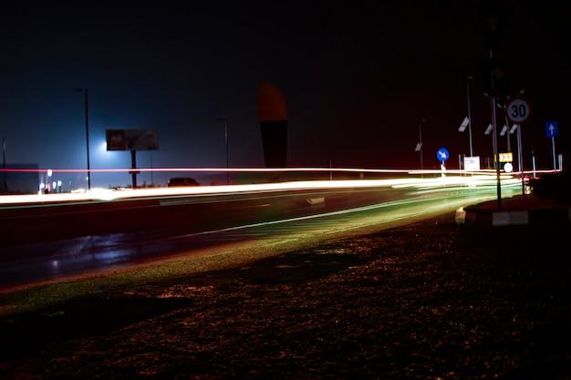 Straatverlichting met lage hoek