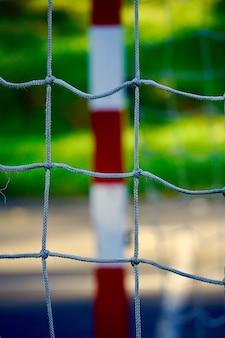 Straatvoetbal doel sportuitrusting bilbao stad spanje