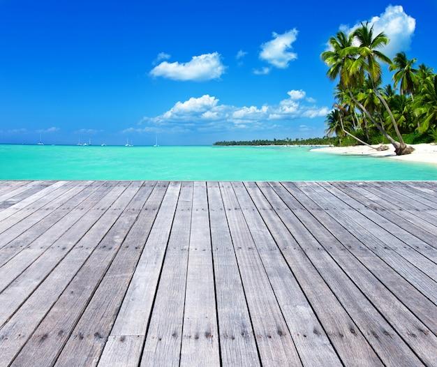 Strand en prachtige tropische zee. tropische landschappen