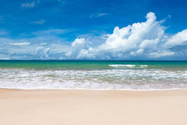 Strand en prachtige tropische zee.