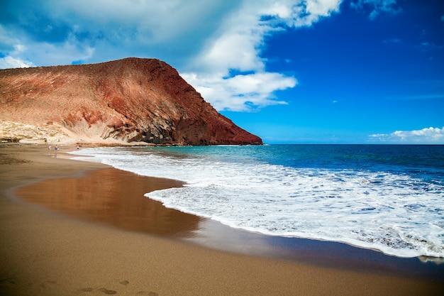 Strand playa de la tejita in tenerife, canarische eilanden, spanje