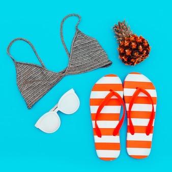 Strand set. zomertrends. minimale stijl
