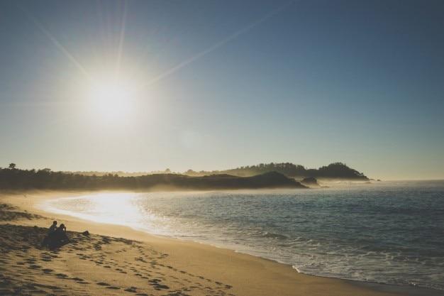 Strand sunray panorama