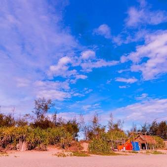 Strand tropisch uitzicht vietnam reizen mode concept