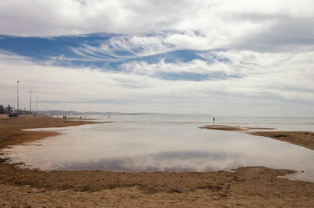Strand van essaouira, marokko