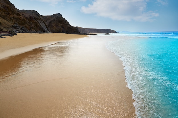 Strand van fuerteventura la pared op de canarische eilanden