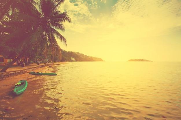 Strand zomer en eiland voor achtergrond met vintage.