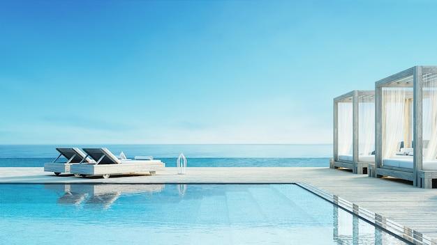 Strandlounge - oceaanvilla op zeezicht voor vakantie en zomer